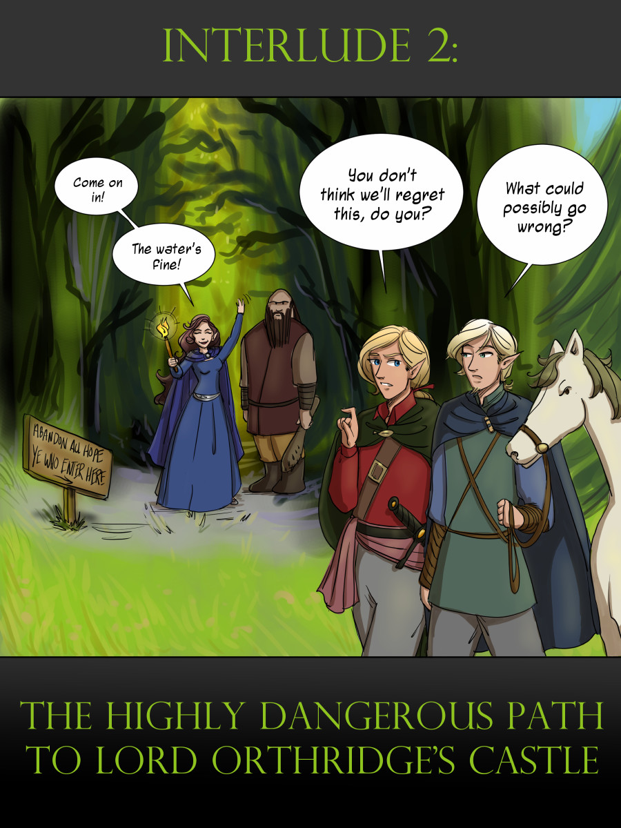 Interlude Cover: The Highly Dangerous Path to Lord Orthridge's Castle